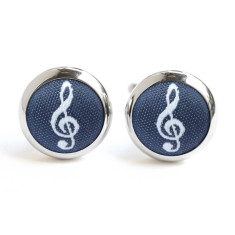 Navy Treble Clef Cufflinks