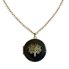 La vita è bella tree locket