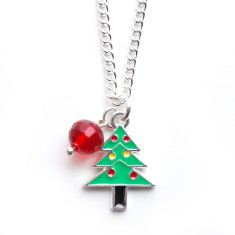 Christmas tree chain necklace