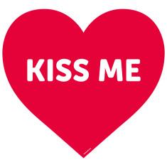 Kiss me reusable fabric wall decal