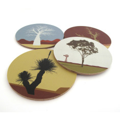 Australian tree coasters (set of 4)