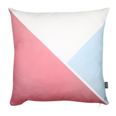 Triangle cushion cover in pink/sky