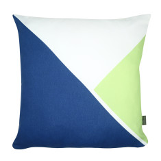Triangle cushion cover in navy/green
