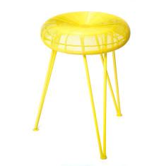 Yellow metal stool (set of 2)