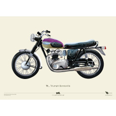 Triumph Bonneville + Norton Commando motorcycle prints