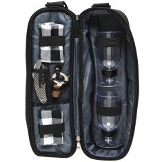 Delux 2 person insulated wine bag in black