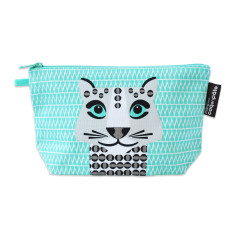 Snow leopard green pencil case