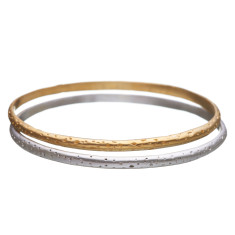 Nature Inspired Dimple Bangle (available in gold and silver)