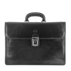 The Paolo Classic Italian Leather Briefcase