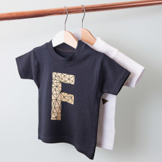 Personalised Geometric Initial Children's T Shirt