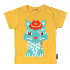 Organic cotton cat t-shirt
