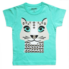 Snow leopard green kids' t-shirt