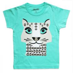 Snow leopard green kids' t-shirt