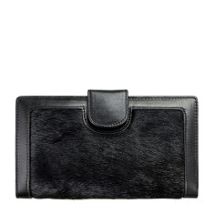 Doris leather wallet in black