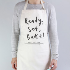 Personalised ready set bake apron