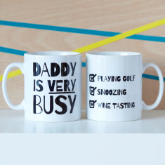 Personalised Very Busy Daddy Mug