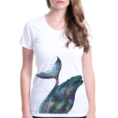 Whale women's fitted tee