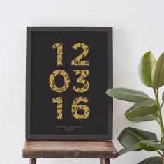 Floral Numbers Anniversary Print