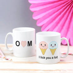 I Lick You A Lot Personalised Ice Cream Mug