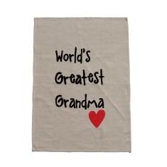 World's greatest grandma handmade tea towel