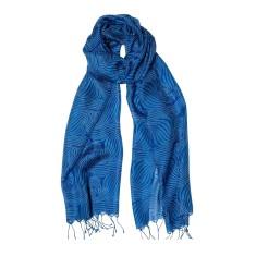 Geo swirls silk scarf