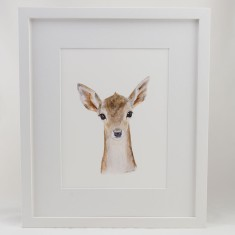 Baby woodland animal framed print (various designs)