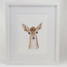 Baby woodland animal framed print (various designs)