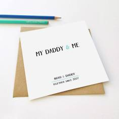 Daddy & me Father's Day greeting card