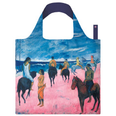 LOQI reusable bag in museum collection in horseman on the beach