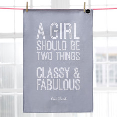 Classy & fabulous Coco Chanel quote tea towel