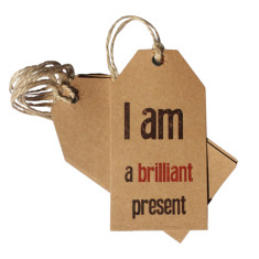 I am a brilliant present Christmas gift tags (set of 6)