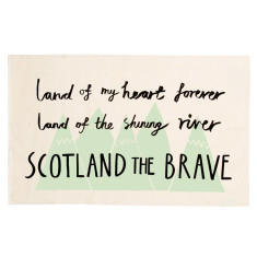 Scotland the Brave tea towel