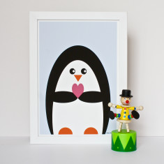 Penguin With Love Print
