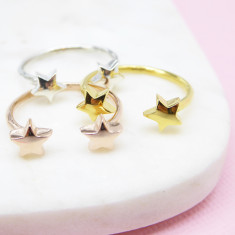Double star ring (silver/gold/rosegold)