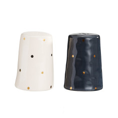 Gold spot salt & pepper shakers