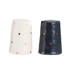 Gold spot salt & pepper shakers
