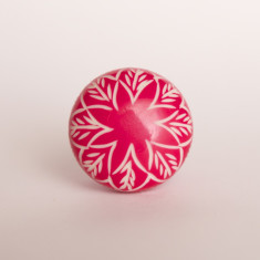 Tulips pink knob/drawer pull