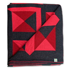 Turn it up merino wool throw blanket