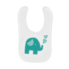 Trumpety trunk the elephant screen-printed bib