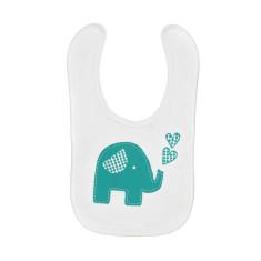 Trumpety trunk the elephant screen-printed bib