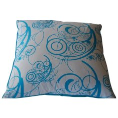 Turquoise swirl cushion with insert