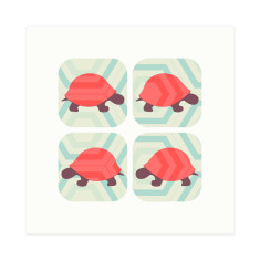 Slow down and walk the turtle hexagon-patterned gift cards (set of 6)