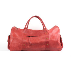 Tuscan overnighter bag in cherry