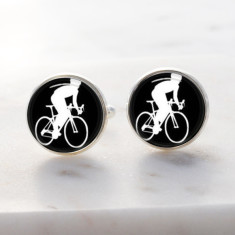 Cycle bike cufflinks