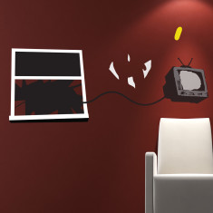 Banksy Television wall sticker