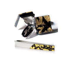 Marmoreo Gift Set - Cufflinks + Tie Bar