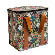 Insulated Cooler bag in Hibiscus print