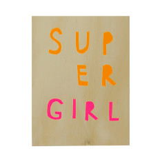 Supergirl ply screenprint