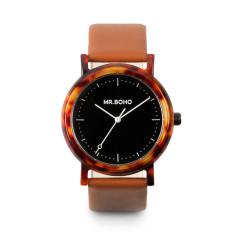 Mr Boho Acetate Black Walnut Watch
