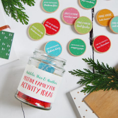 Personalised Festive Family Fun Activity Ideas Jar